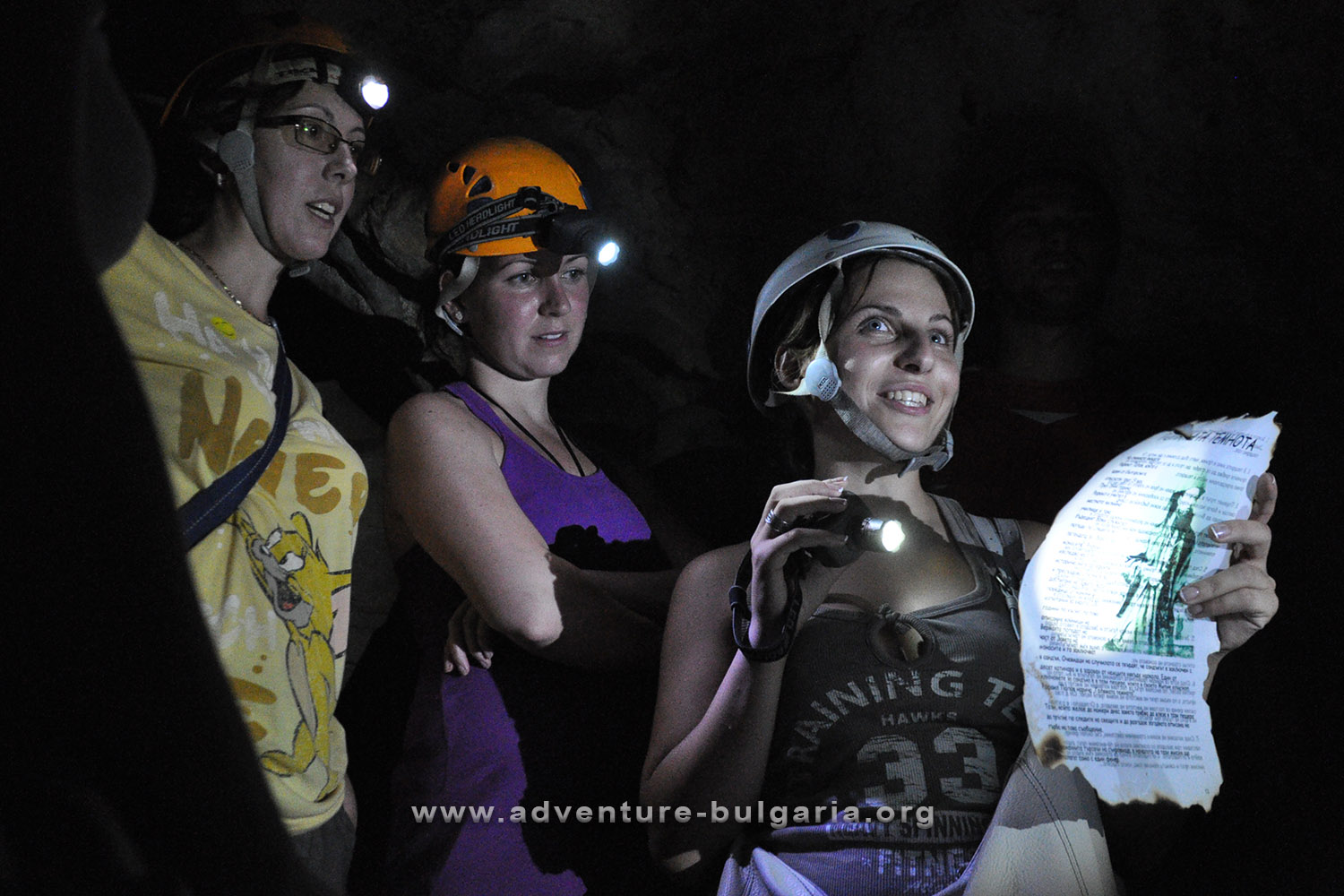 Logical team building task in a cave Prohodna