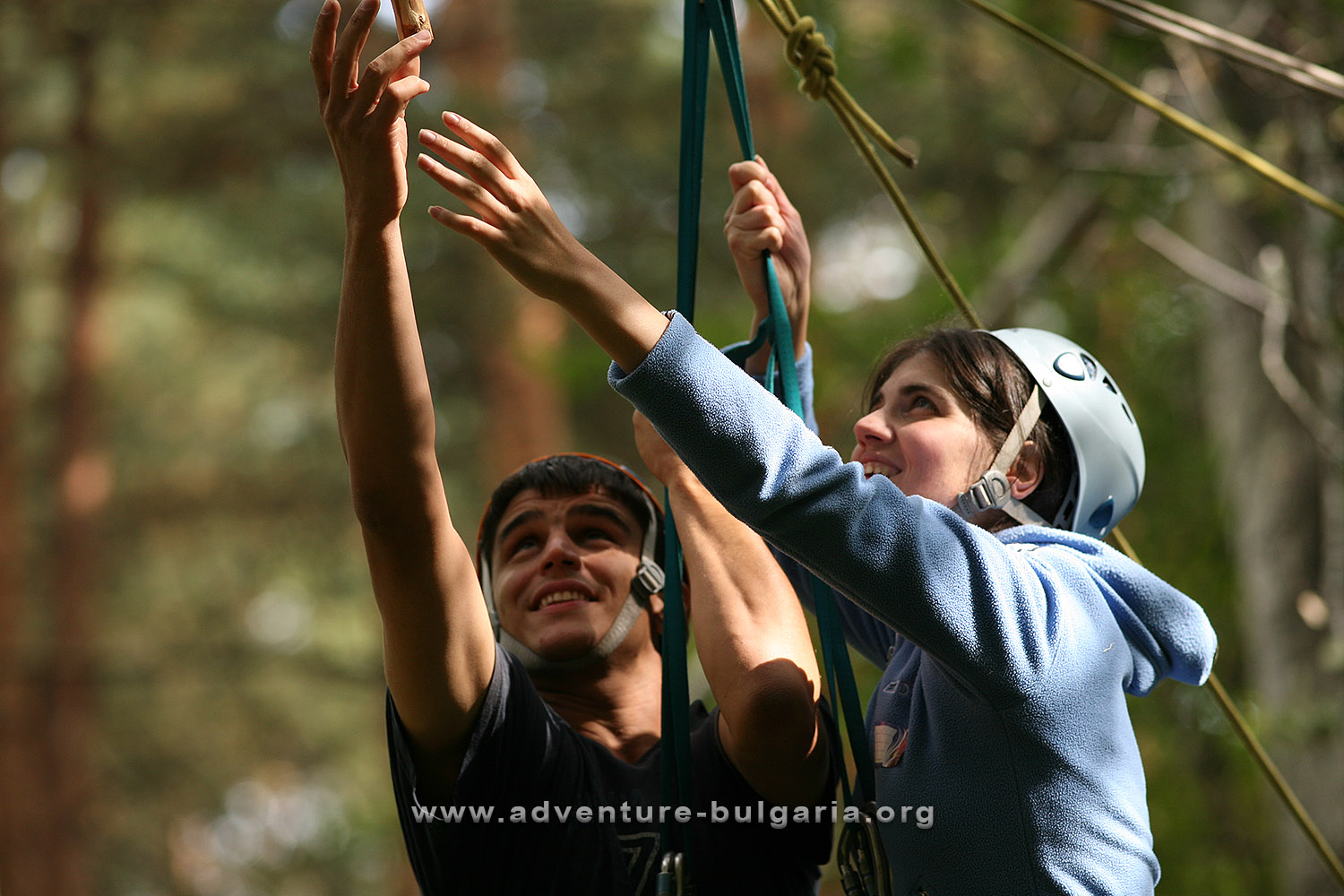 Overcoming the psychological barrier in adventure teambuilding programs of club Edelweiss, Bulgaria.