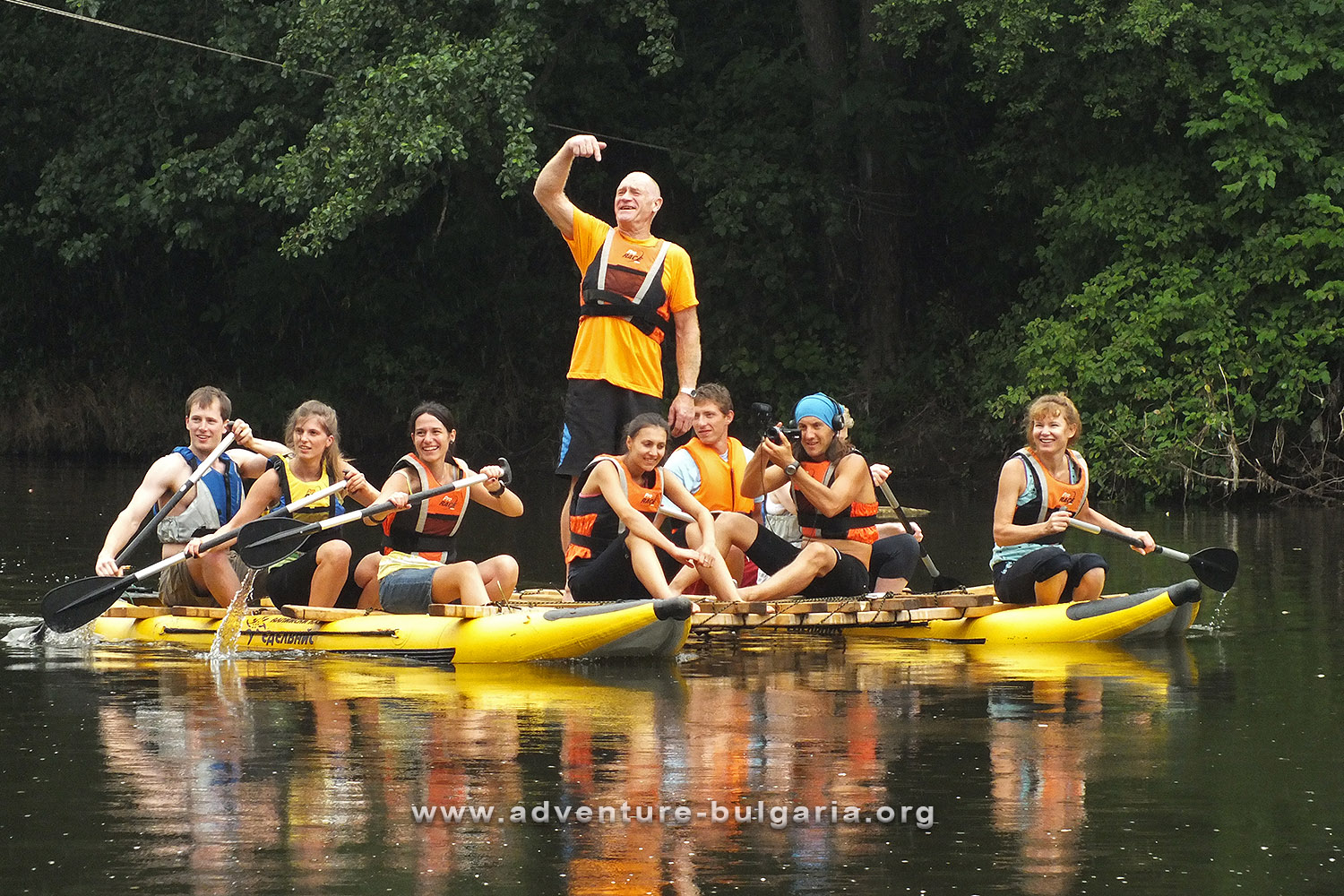 Team Building with kayaks on the Yantra River, Bulgaria