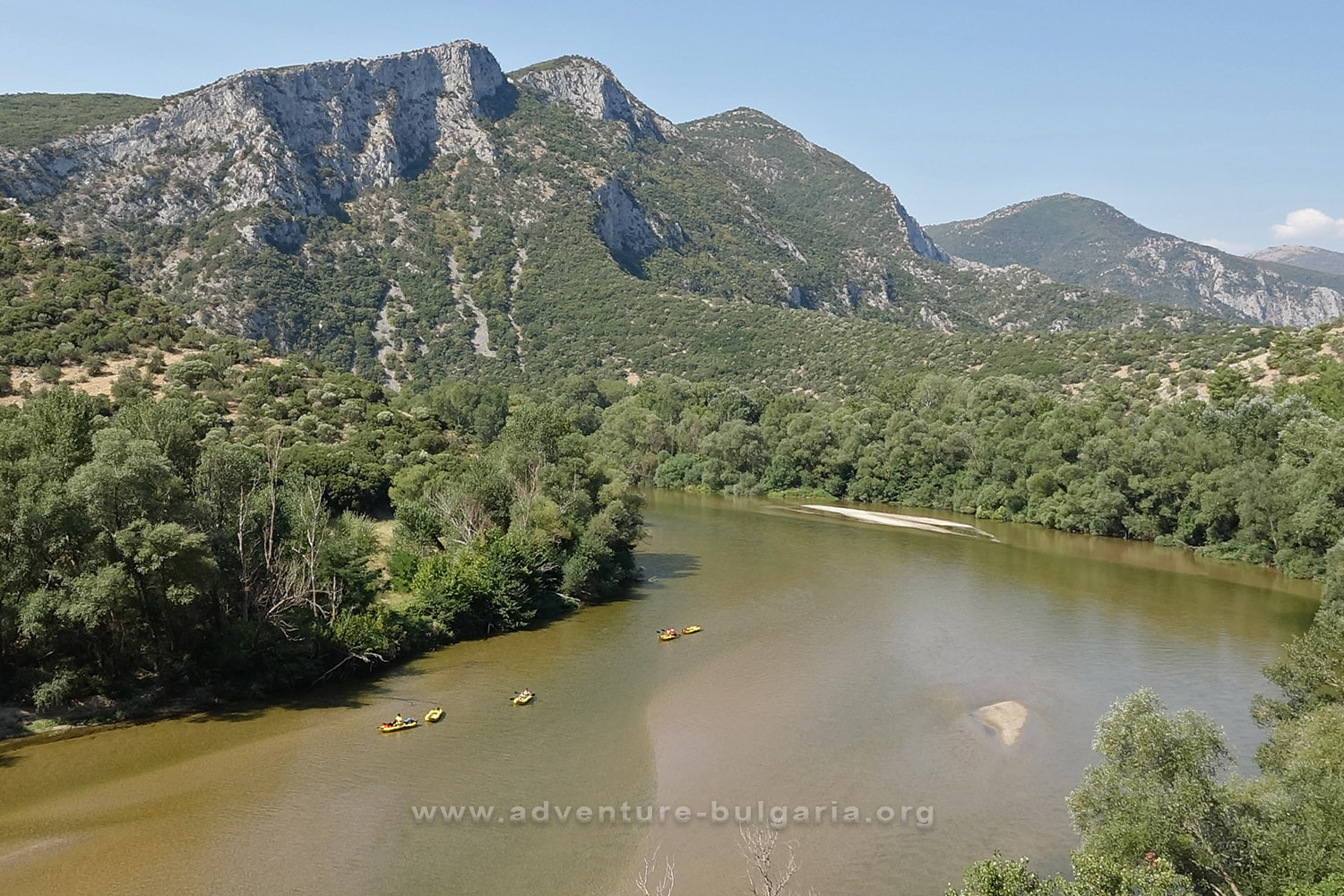 Kayaking on the Mesta river in Greece