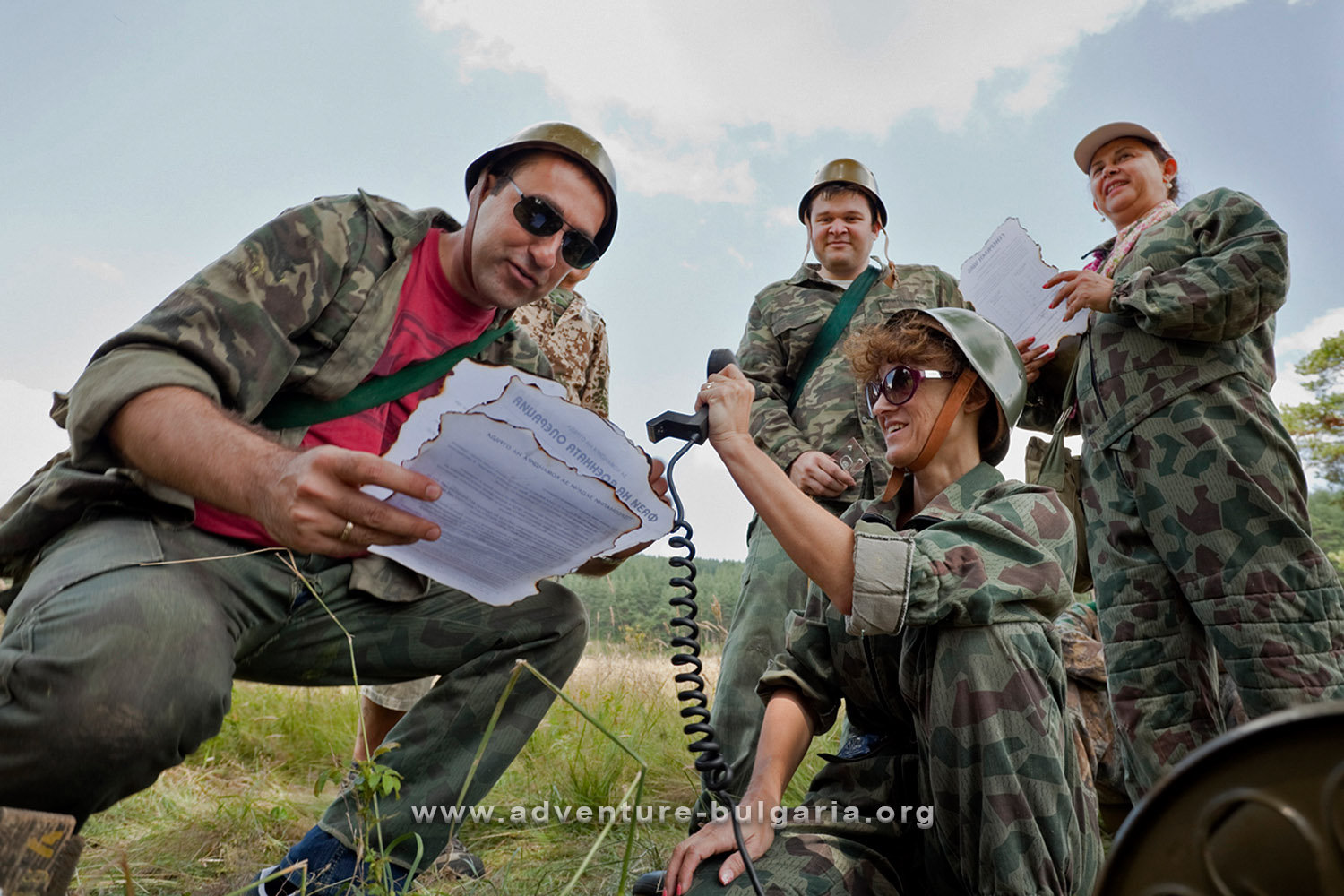 Teambuilding in military style, Paintball and Airsoft in Bulgaria