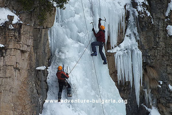 Ice climbing in Bulgaria