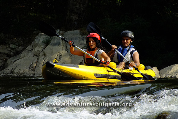 Team Building with rafting and kayaking on Struma river, Bulgaria
