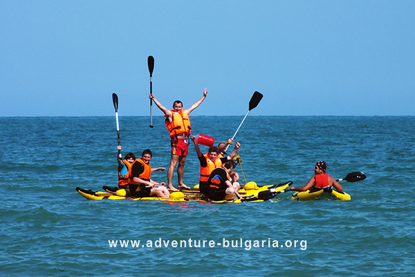 Sea team building games in Bulgaria