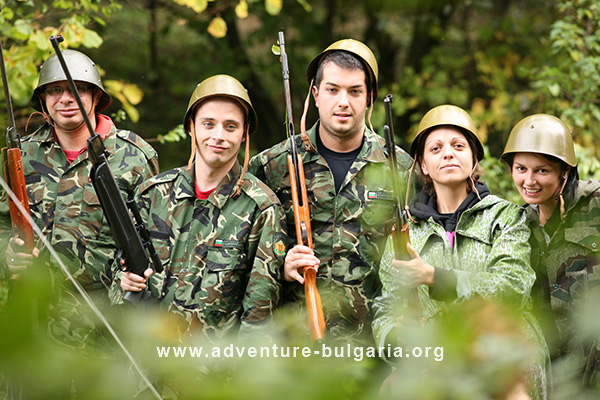 Programma di team building con paintball e airsoft in Bulgaria