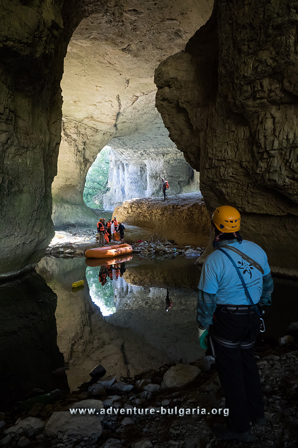 Team building in caves and canyons in Bulgaria
