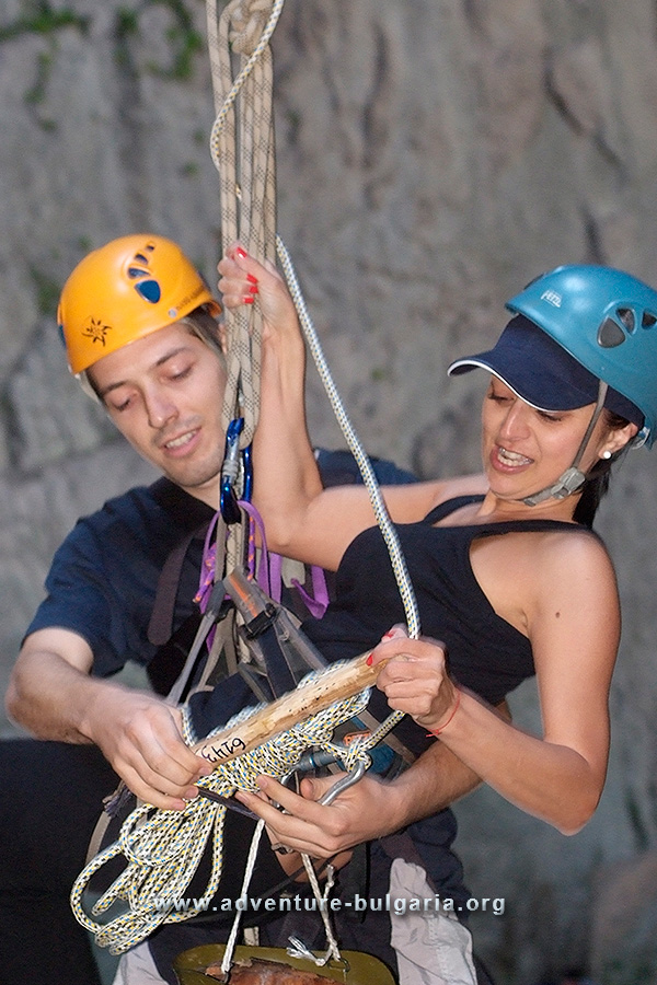 Teambuilding activtis with ropes, caves and canyons in Bulgaria