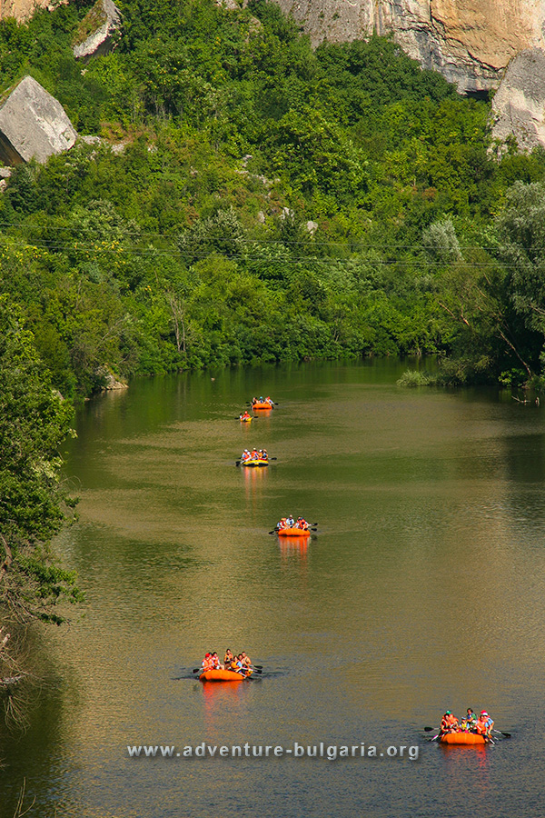 Team building on the Iskar River near Lukovit, Bulgaria