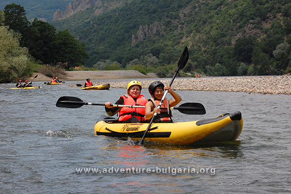 Kayaking, Arda river, Bulgaria