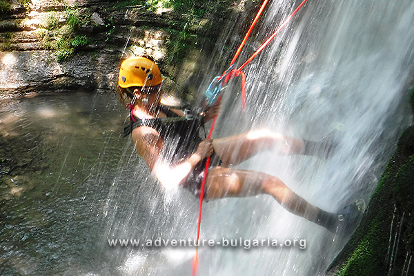 Rappelling in Bulgaria