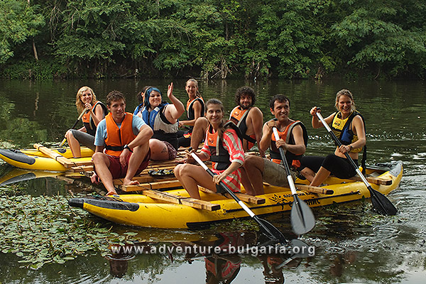 Team Building on Yantra river, Bulgaria