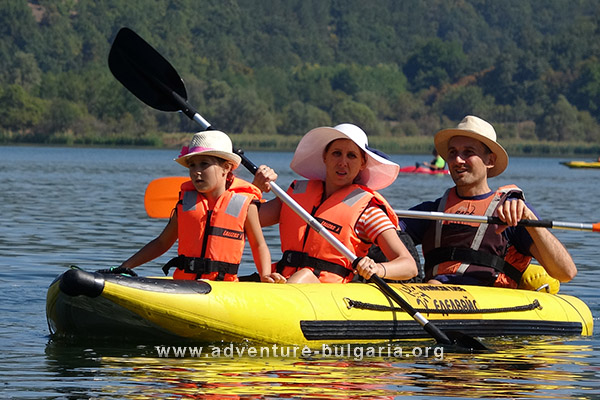 Water trips with kayaks in Bulgaria