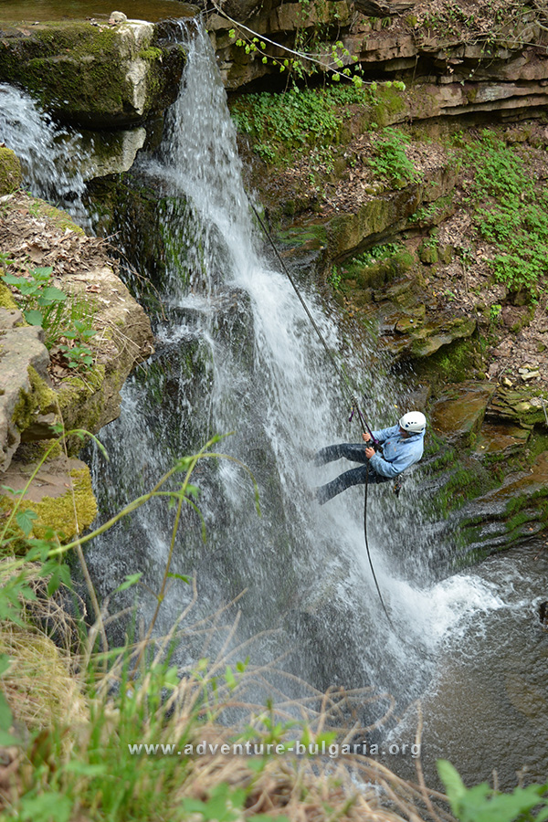 Abseiling in Bulgaria