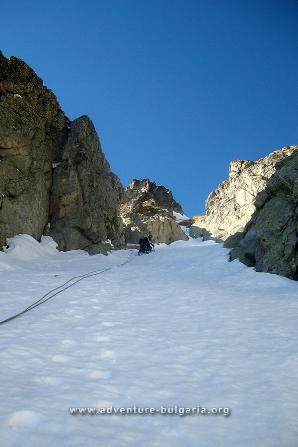 Climbing to Djangala Peak, Pirin mountain