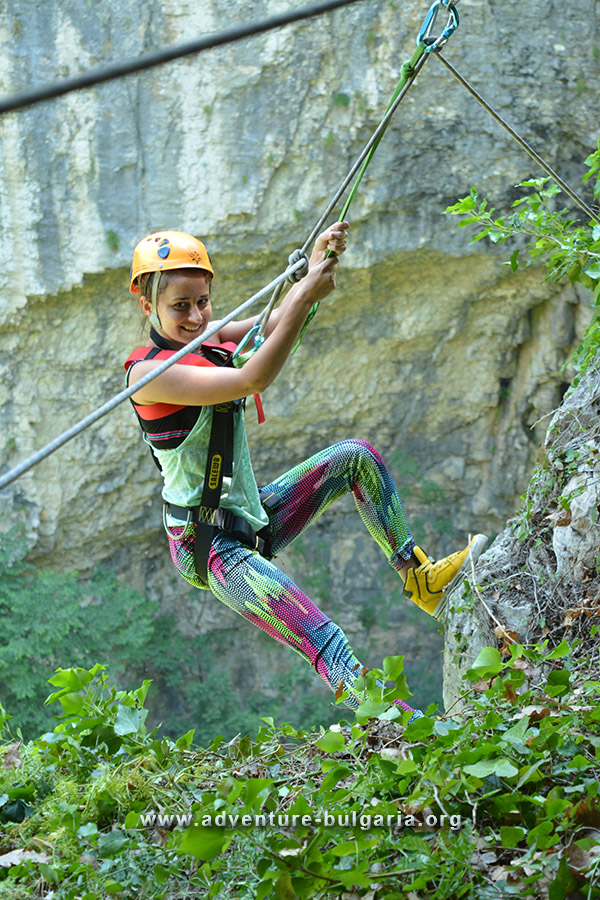 Abseiling and rafting in Bulgaria