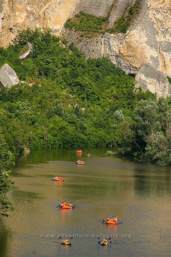 Kayaking near Prohodna cave, Bulgaria