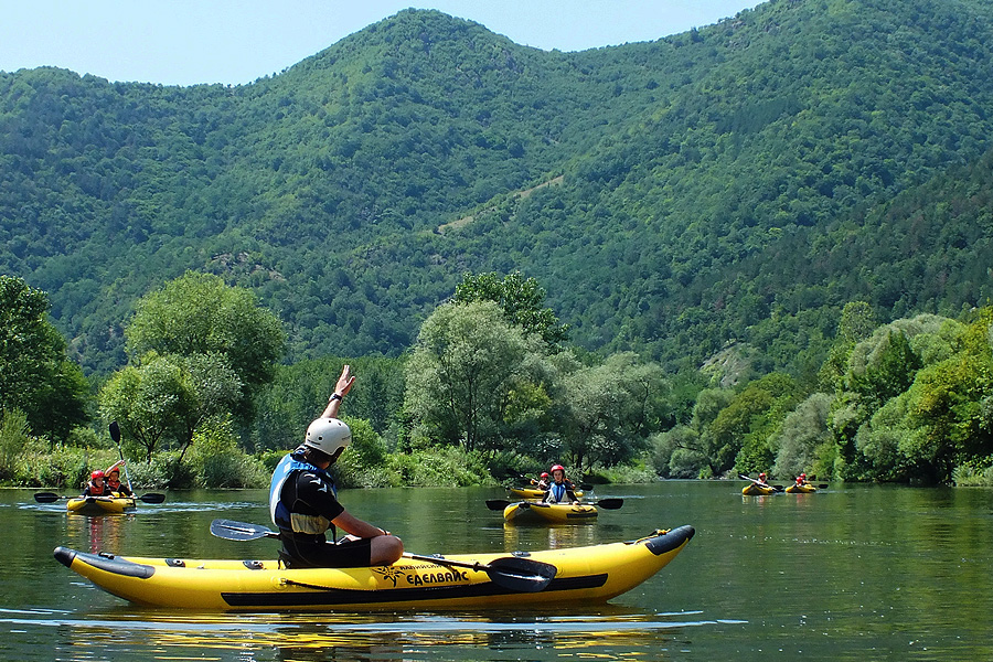 Team Building with kayaking in Bulgaria.