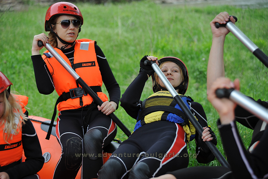 During the preliminary rafting instruction.