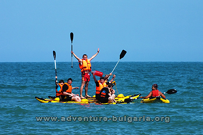 Sea teambuilding on the beach in Bulgaria
