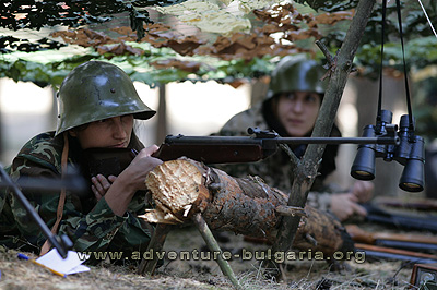 Paintball and airsoft such as team building program in Bulgaria