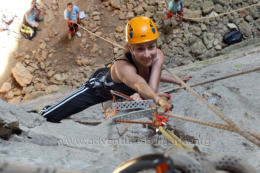 Team Building in Prohodna cave, Bulgaria.