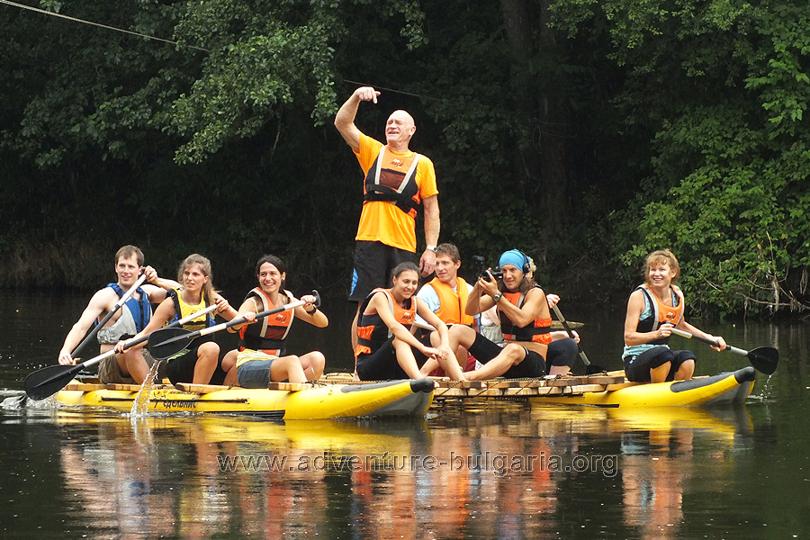 "Teambuilding Mission ""catamaran"" on the Yantra River, Bulgaria."